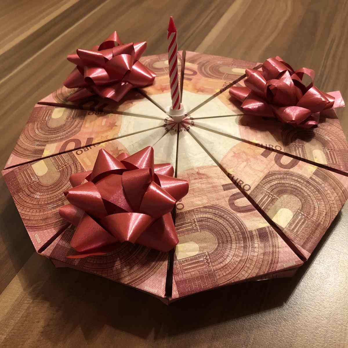 Anleitung Geldgeschenk Torte basteln
