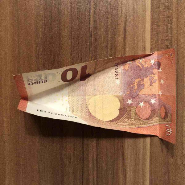 Geld für Geldgeschenk falten