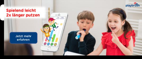 Playbrush zwei Mal länger Zähne putzen