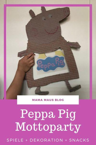 Werbung - Ideen für eine Peppa Pig Mottoparty mit Anleitungen für Dekoration, Snacks und Spiele #PeppaDIY #Mottoparty #PeppaPig #PeppaWutz #Geburtstagsparty