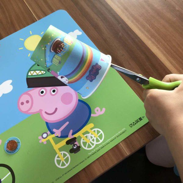 Peppa Pig Spiel für Mottoparty basteln
