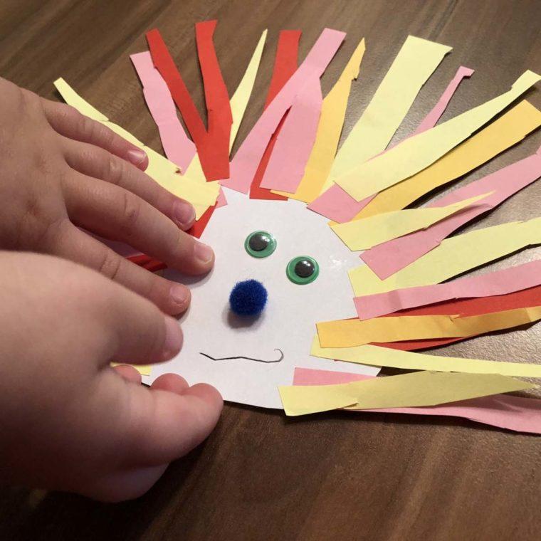 Basteln mit Kleinkindern im Herbst – Igel