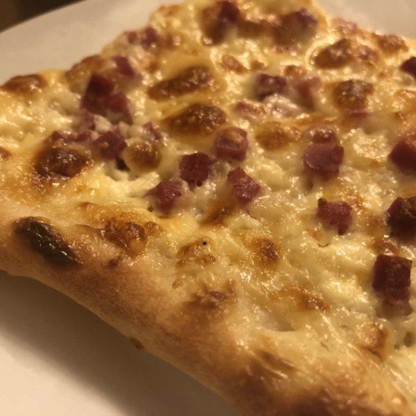 Rezept für Flammkuchen mit Pizzateig