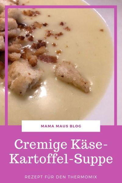Rezept für Käse-Kartoffel-Suppe aus dem Thermomix. Cremig lecker und perfekt zum Aufwärmen nach einem Herbstspaziergang. In 30 min kinderleicht zubereitet. #Rezept #Thermomix #Kartoffelsuppe #EssenfürKinder #Familienessen