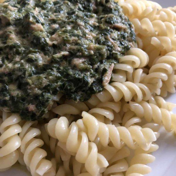 Rezept Spinat-Tunfisch-Soße für Nudeln aus dem Thermomix