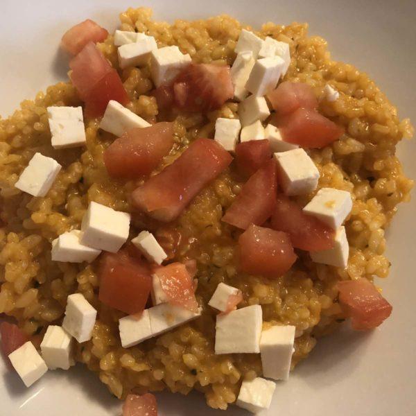 Rezept für Risotto mit frischen Tomaten und Feta