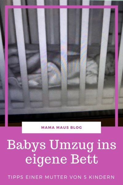 Tipps um Babys den Umzug ins eigene Bett zu erleichtern. #Baby #Tipps #Eltern #Schlafen #Babyschlaf